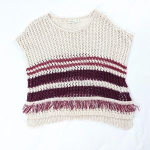 Abercrombie and Fitch Kids Poncho Fringe Sweater